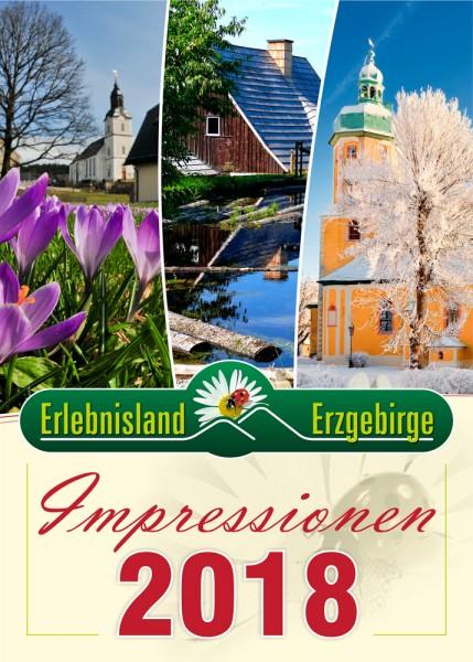 """Jahreskalender """"Impressionen Erlebnisland Erzgebirge"""" 2018"""