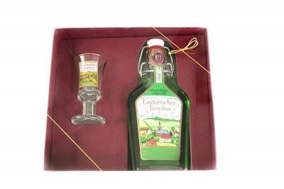 Geschenkeset Lauterbacher Tropfen 0,2l + Glas