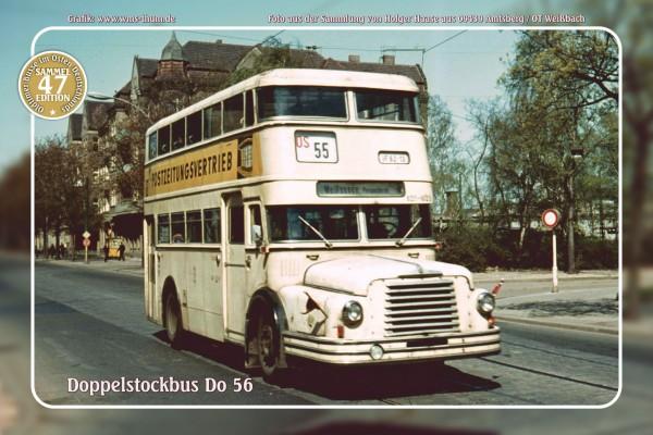 """Blechschild Bus Nr. 47 """"Doppelstockbus Do 56"""""""