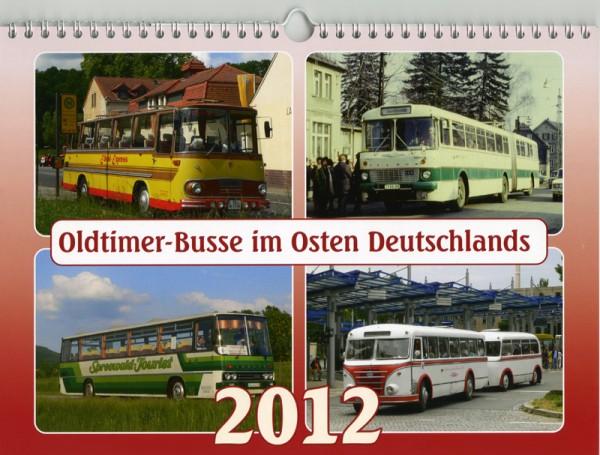 Oldtimer-Busse im Osten Deutschlands 2012