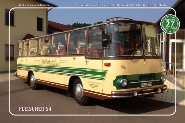 """Blechschild Bus Nr.27 """"Fleischer S4"""""""