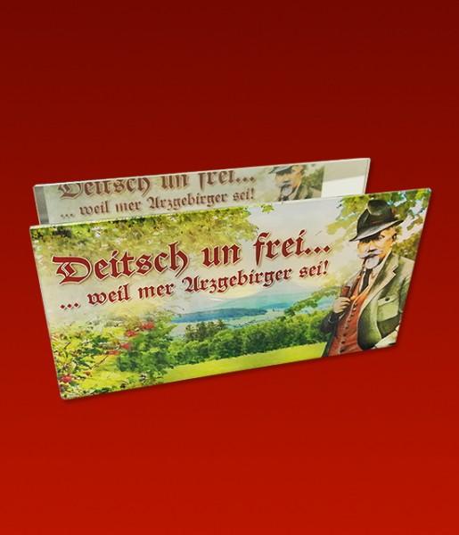 """NEUHEIT! Glas-Teelichthalter """"...weil mer Arzgebirger sei!"""""""