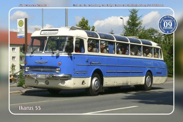 """Blechschild Bus Nr.9 """"Ikarus 55"""""""