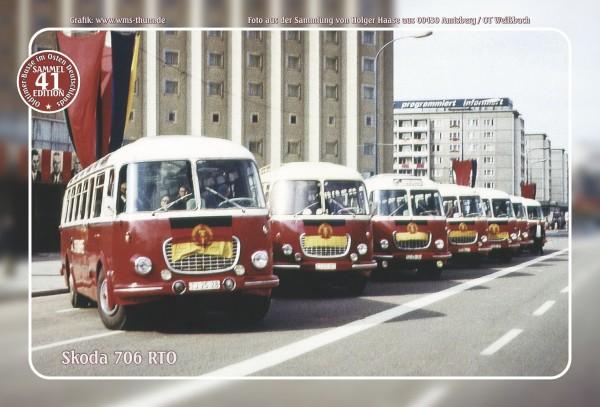 """Blechschild Bus Nr. 41 """"Skoda 706 RTO"""""""