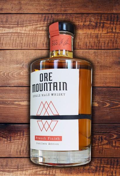 """ORE MOUNTAIN Single Malt Whisky - French Finish - Limitiert """"DER ERSTE WHISKY AUS DEM ERZGEBIRGE"""""""