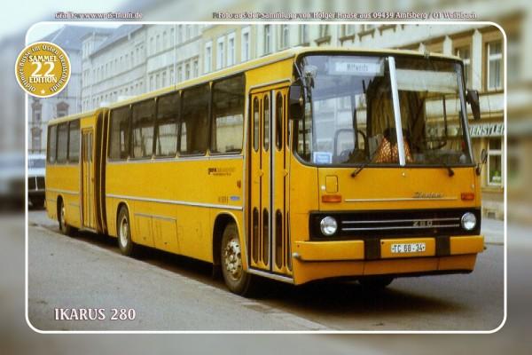 """Blechschild Bus Nr.22 """"Ikarus 280"""""""