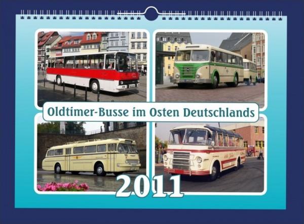 Oldtimer-Busse im Osten Deutschlands 2011
