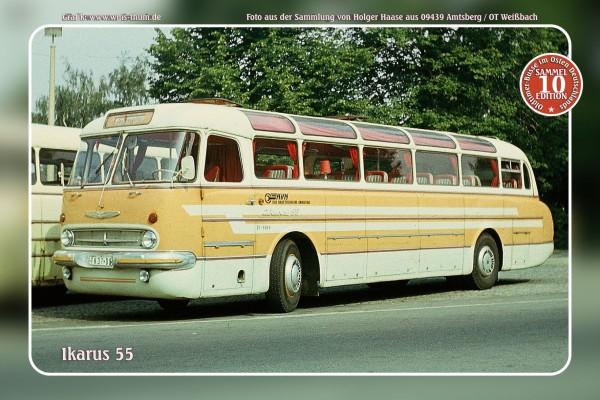 """Blechschild Bus Nr.10 """"Ikarus 55"""""""