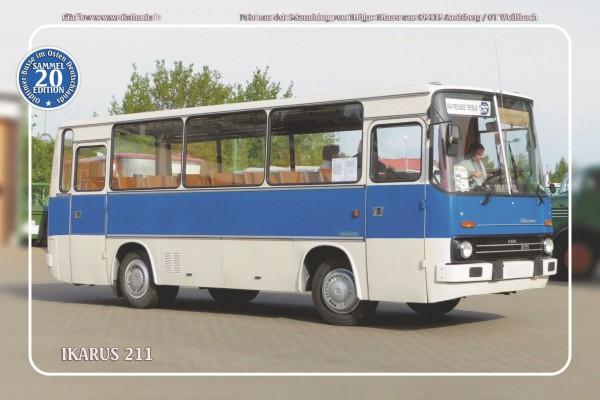"""Blechschild Bus Nr.20 """"Ikarus 211"""""""