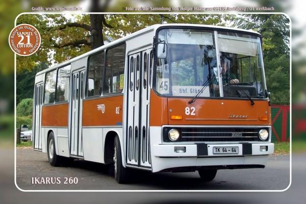 """Blechschild Bus Nr.21 """"Ikarus 260"""""""