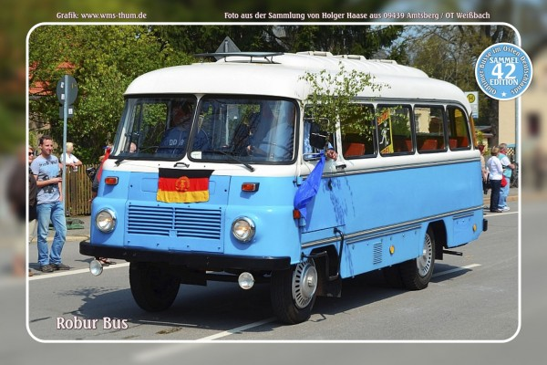 "Blechschild Bus Nr. 42 ""Robur Bus"""