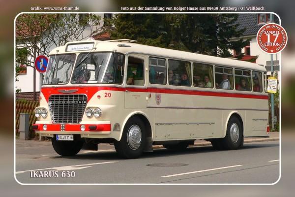 """Blechschild Bus Nr.17 """"Ikarus 630"""""""