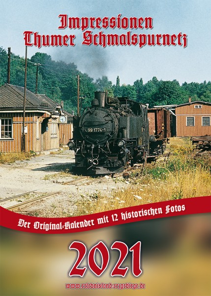 """Kalender """"Thumer Schmalspurnetz 2021"""""""