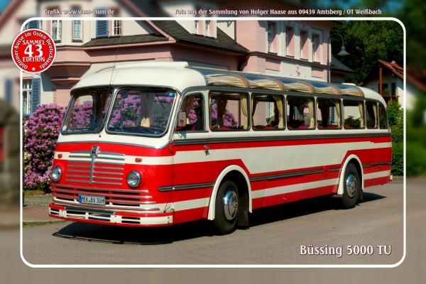 """Blechschild Bus Nr. 43 """"Büssing 5000 TU"""""""