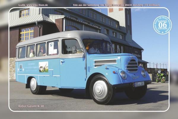 """Blechschild Bus Nr.6 """"Robur Garant K 30"""""""