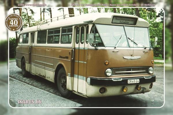 """Blechschild Bus Nr. 40 """"Ikarus 66"""""""
