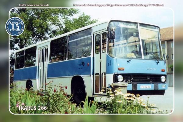 """Blechschild Bus Nr.15 """"Ikarus 266"""""""