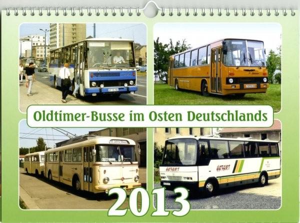 Oldtimer-Busse im Osten Deutschlands 2013