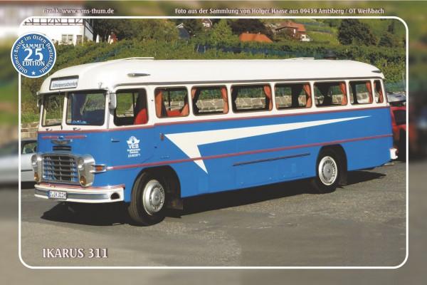 """Blechschild Bus Nr.25 """"Ikarus 311"""""""