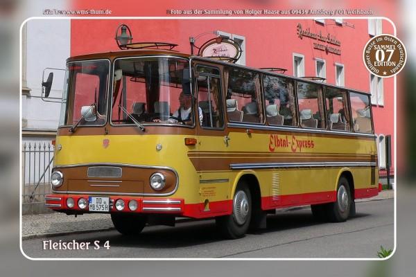 """Blechschild Bus Nr.7 """"Fleischer S 4"""""""