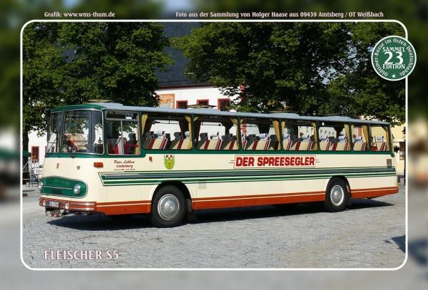 """Blechschild Bus Nr.23 """"Fleischer S5"""""""