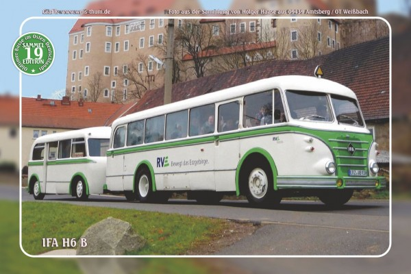 "Blechschild Bus Nr.19 ""IFA H6 B"""