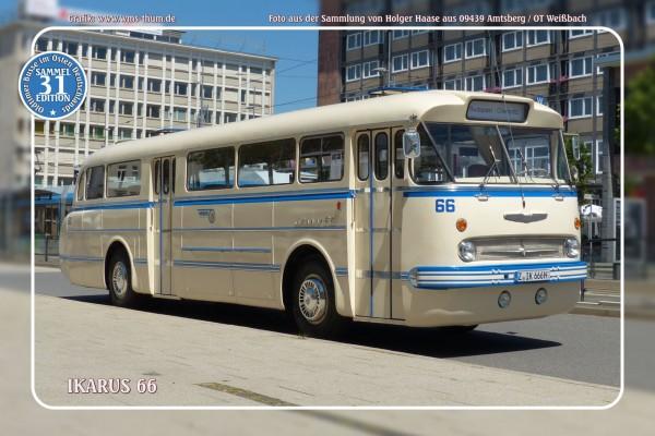 """Blechschild Bus Nr. 31 """"Ikarus 66"""""""