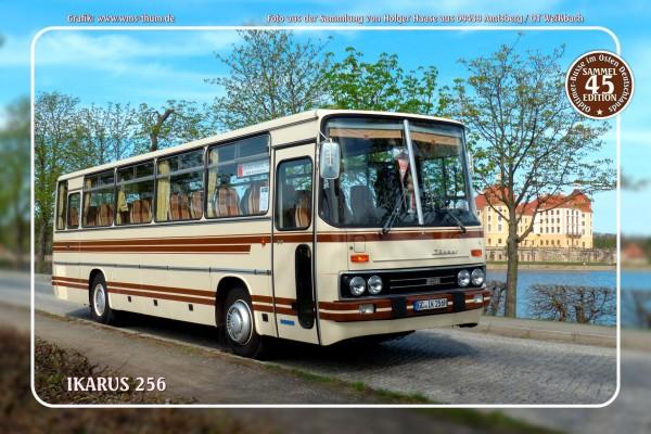 """Blechschild Bus Nr. 45 """"Ikarus 256"""""""