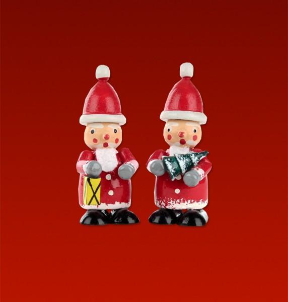 Weihnachtsmann farbig Baum/Laterne (1 Paar)