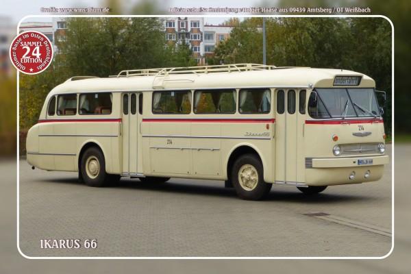 """Blechschild Bus Nr.24 """"Ikarus 66"""""""