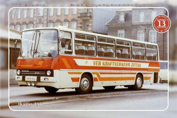 """Blechschild Bus Nr.13 """"Ikarus 256"""""""