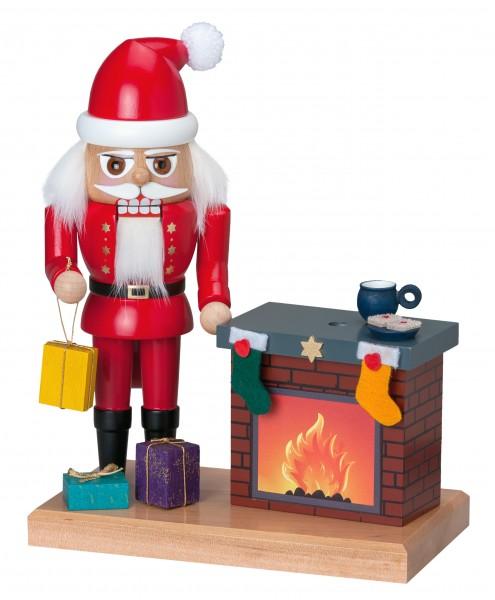 """Nußknacker """"Weihnachtsmann mit Kamin"""" (Rauchfunktion)"""