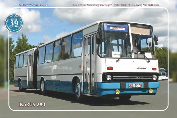 """Blechschild Bus Nr. 39 """"Ikarus 280"""""""
