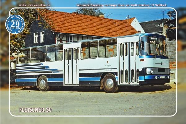 """Blechschild Bus Nr.29 """"Fleischer S6"""""""