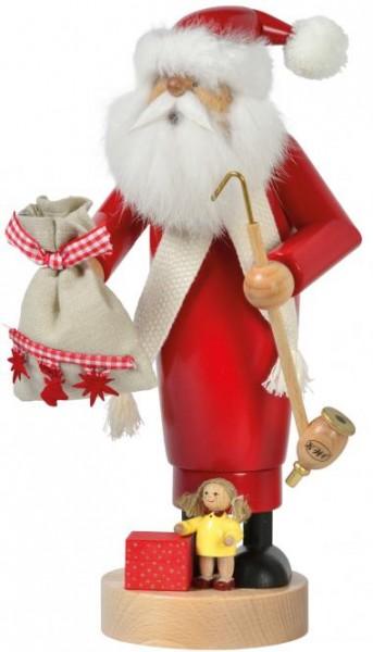 Räuchermann Weihnachtsmann mit Puppe, 25 cm