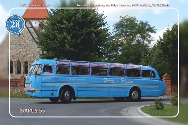 """Blechschild Bus Nr.28 """"Ikarus 55"""""""