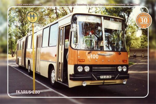"""Blechschild Bus Nr. 30 """"Ikarus 280"""""""