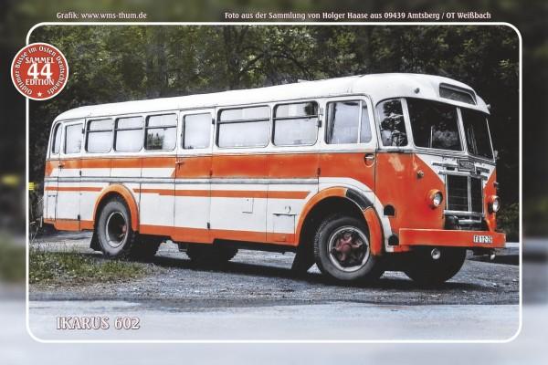 """Blechschild Bus Nr. 44 """"Ikarus 602"""""""