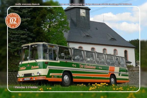 """Blechschild Bus Nr.2 """"Fleischer S 5 Döhler"""""""