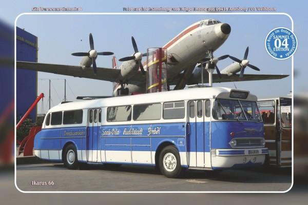 """Blechschild Bus Nr.4 """"Ikarus 66"""""""