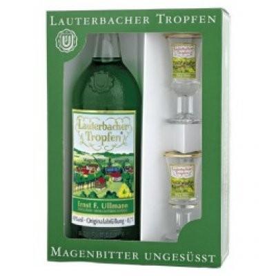 Geschenkeset Lauterbacher Tropfen 0,7l + 2 Gläser