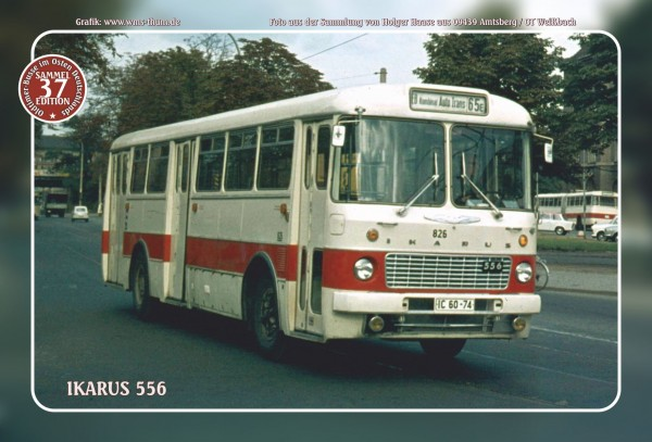 """Blechschild Bus Nr. 37 """"Ikarus 556"""""""