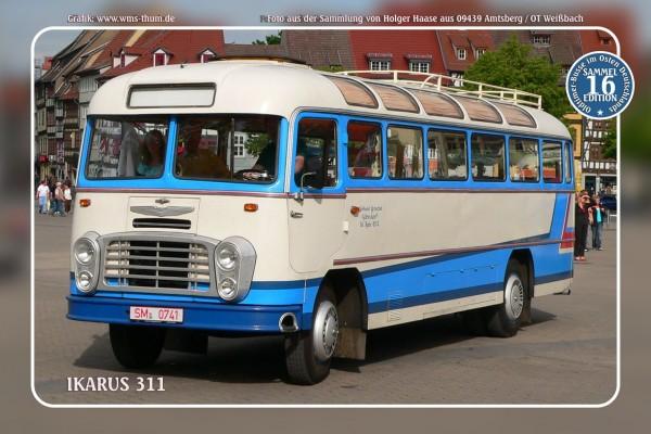 """Blechschild Bus Nr.16 """"Ikarus 311"""""""