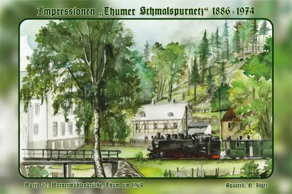 """Neu: Sammeledition Blechschild """"Thumer Schmalspurnetz"""""""