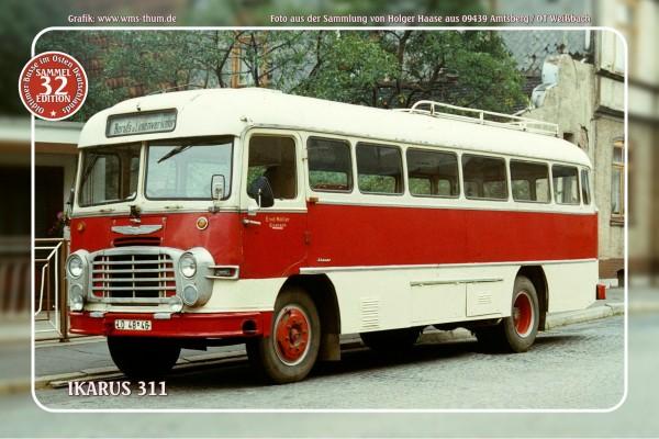 """Blechschild Bus Nr. 32 """"Ikarus 311"""""""