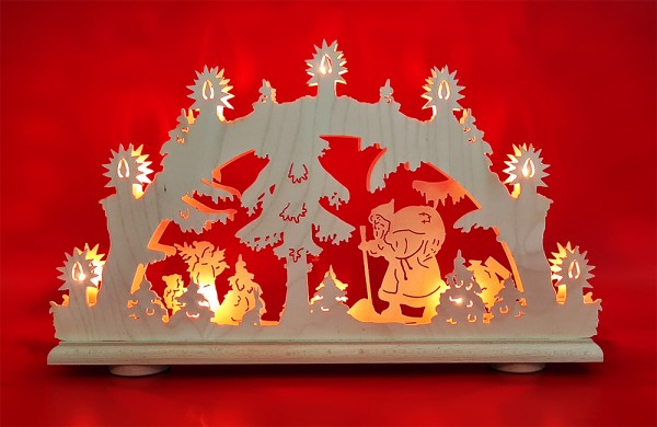 Schwibbogen Weihnachtsmann 2D