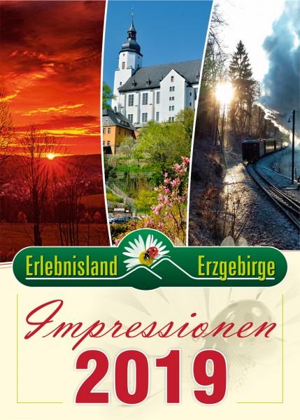 """Jahreskalender """"Impressionen Erlebnisland Erzgebirge"""" 2019"""