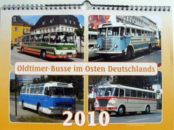 Oldtimer-Busse im Osten Deutschlands 2010