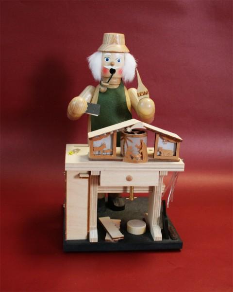 Räuchermann Krippenhersteller mit Spielwerk