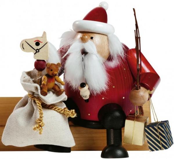 Räuchermann Kantenhocker - Weihnachtsmann, 16 cm